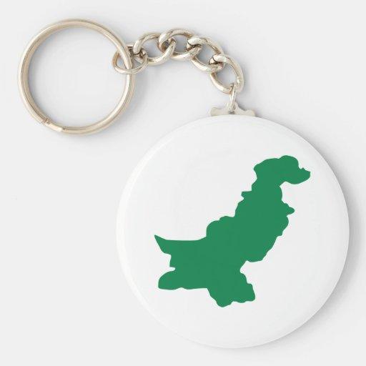 Pakistan Basic Round Button Keychain
