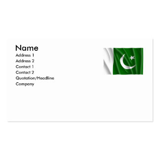 PAKISTAN Double-Sided STANDARD BUSINESS CARDS (Pack OF 100)