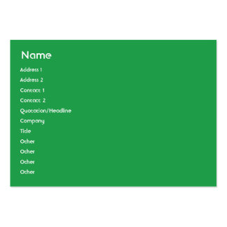 Pakistan - Chubby Large Business Cards (Pack Of 100)