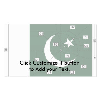Pakistan Construction, Pakistan flag Double-Sided Standard Business Cards (Pack Of 100)