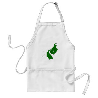 pakistan country flag map shape symbol adult apron
