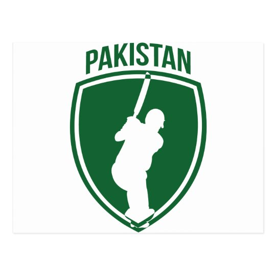 Pakistan Cricket Crest Postcard