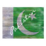 Pakistan distressed Pakistani flag Postcard