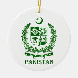 PAKISTAN - emblem/coat of arms/flag/symbol Double-Sided Ceramic Round Christmas Ornament
