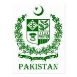 PAKISTAN - emblem/coat of arms/flag/symbol Postcard
