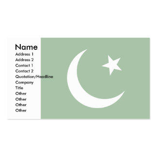 Pakistan Flag Double-Sided Standard Business Cards (Pack Of 100)