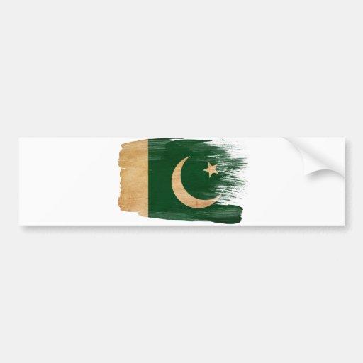 Pakistan Flag Car Bumper Sticker