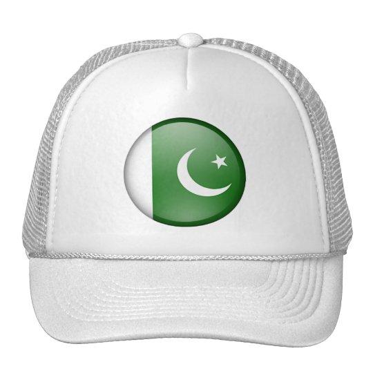 pakistan flag circle trucker hat