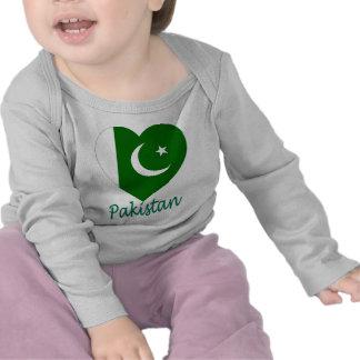 Pakistan Flag Heart Shirts