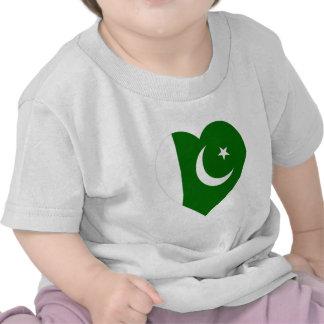 Pakistan Flag Heart Tee Shirt