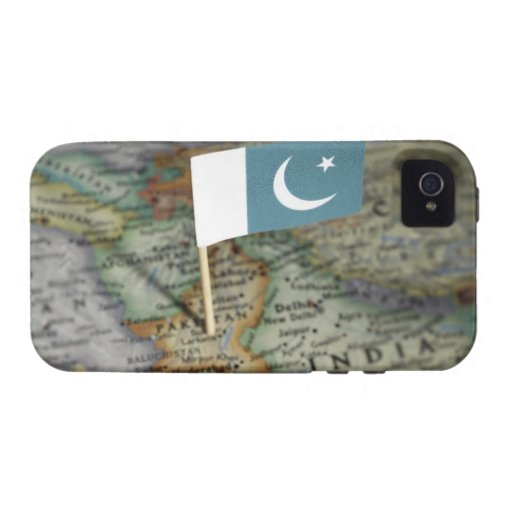 Pakistan flag in map vibe iPhone 4 case