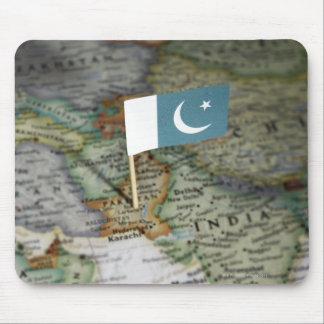 Pakistan flag in map mouse pad