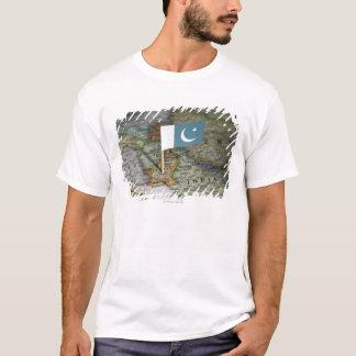 Pakistan flag in map T-Shirt
