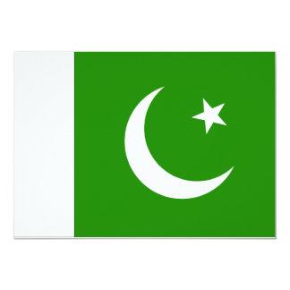 Pakistan Flag 5x7 Paper Invitation Card