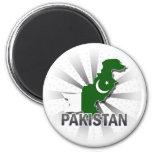 Pakistan Flag Map 2.0 Fridge Magnets