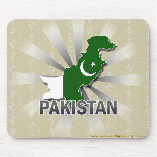 Pakistan Flag Map 2.0 Mouse Pads