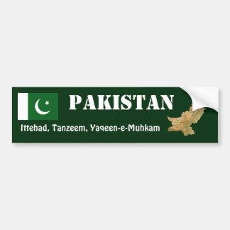 Pakistan Flag + Map Bumper Sticker