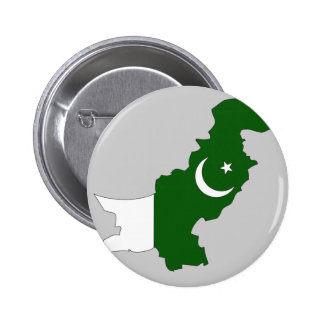 Pakistan flag map pinback button