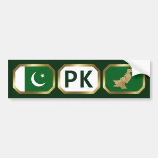 Pakistan Flag Map Code Bumper Sticker Car Bumper Sticker