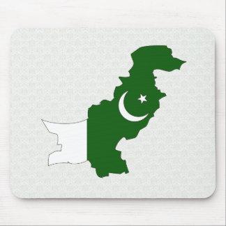 Pakistan Flag Map full size Mousepads