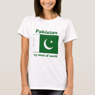 Pakistan Flag + Map + Text T-Shirt