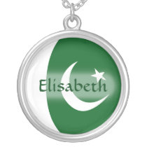 Pakistan Flag   Name Necklace