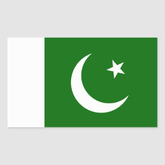 Pakistan Flag Rectangular Sticker