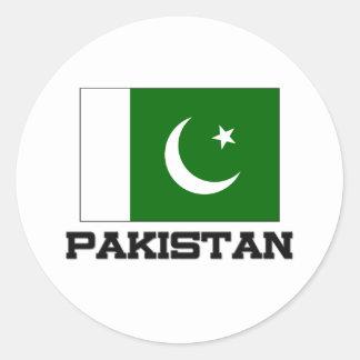 Pakistan Flag Classic Round Sticker