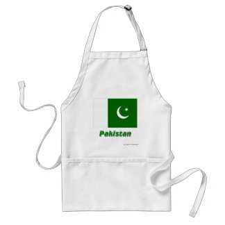 Pakistan Flag with Name Adult Apron