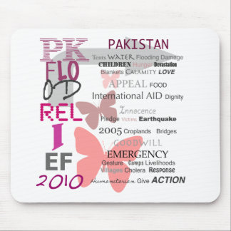Pakistan Flood Relief - Cherry Pink & White Mouse Pad
