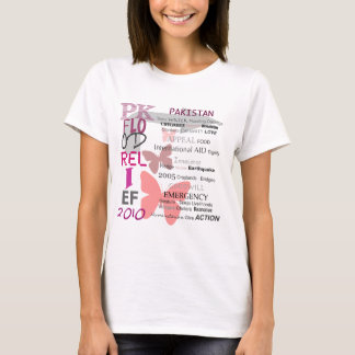 Pakistan Flood Relief - Cherry Pink & White T-Shirt