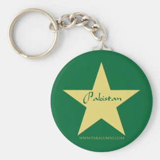 Pakistan Gold Star Products Basic Round Button Keychain
