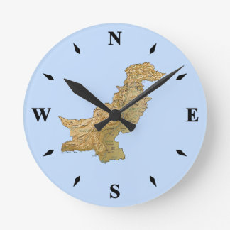 Pakistan Map Clock