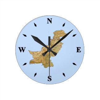 Pakistan Map Clock