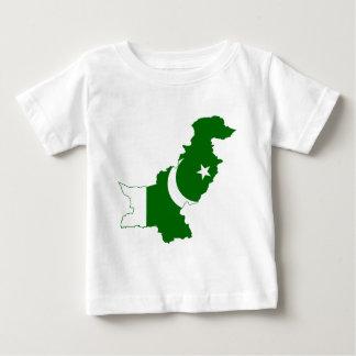Pakistan Map Flag Baby T-Shirt