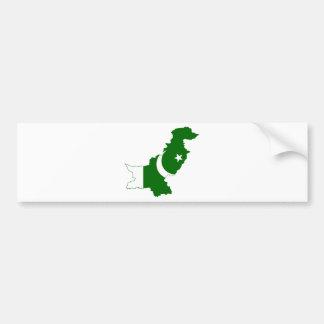 Pakistan Map Flag Bumper Sticker