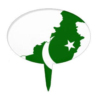 Pakistan Map Flag Cake Topper