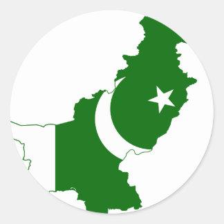 Pakistan Map Flag Stickers