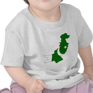 Pakistan Map Flag Tshirts