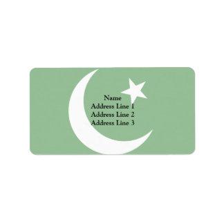 Pakistan Muslim League, Colombia flag Address Label