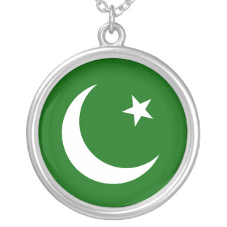 Pakistan Muslim League, Colombia flag Silver Plated Necklace