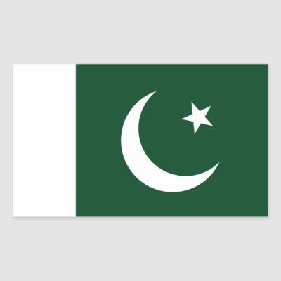 Pakistan country flag text name rectangular sticker zazzle com
