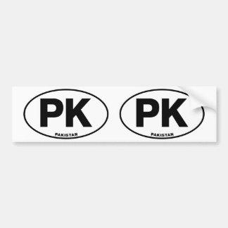 Pakistan PK Oval ID Identification Code Initials Bumper Sticker