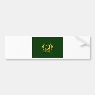 Pakistan President Flag Bumper Sticker