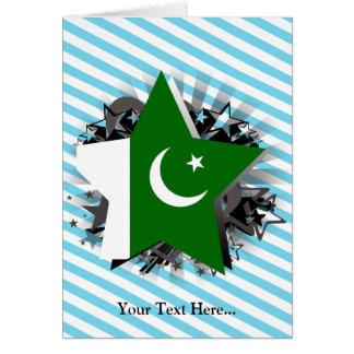 Pakistan Star Greeting Card