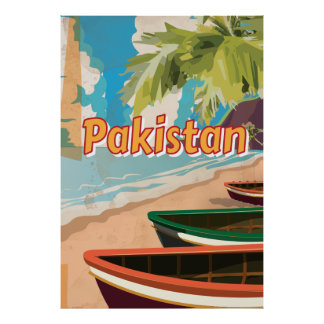 Pakistan Vintage vacation Poster