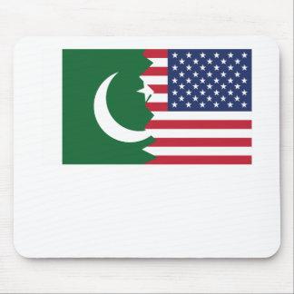 Pakistani American Flag Mouse Pad