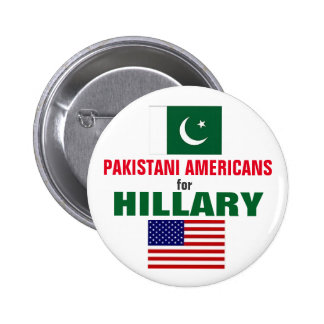 Pakistani Americans for Hillary 2016 Pinback Button