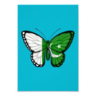 Pakistani Butterfly Flag 3.5x5 Paper Invitation Card