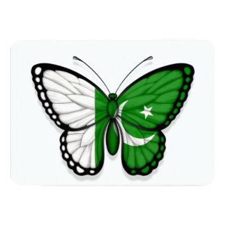 Pakistani Butterfly Flag 5x7 Paper Invitation Card